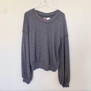 Free People Beach Soft Slouchy Grey Sweater